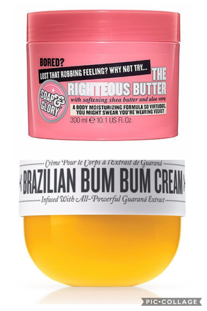 SOL Janeiro Brazilian Bum Bum Cream vs. Soap and Glory The Righteous Butter
