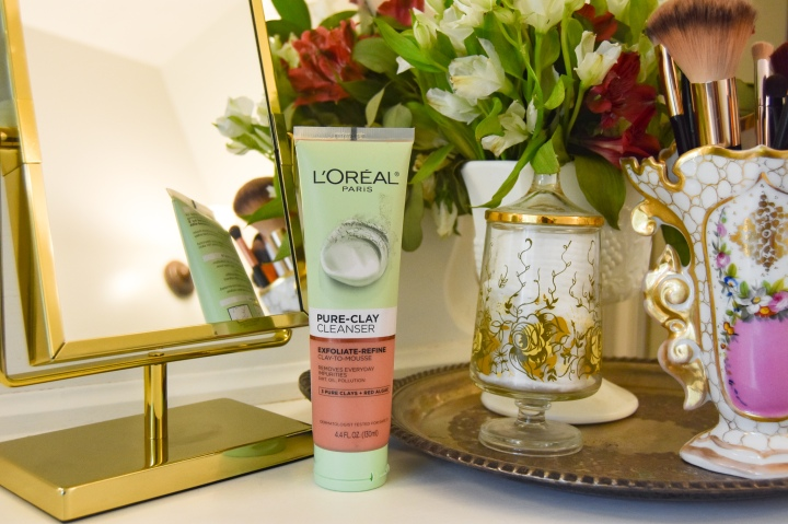 L'ORĒAL Pure Clay Cleanser Exfoliate-Refine