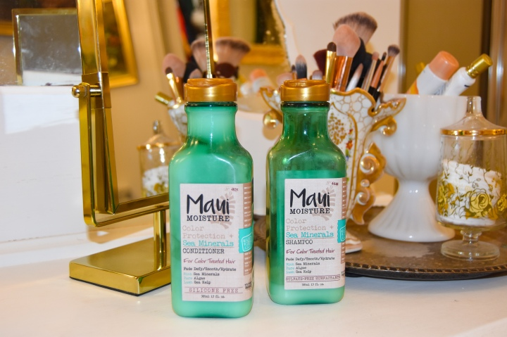 Maui Moisture Color Protectant + Sea Minerals Shampoo and Conditioner