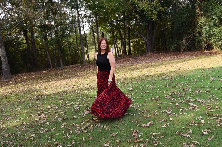 The Red LeopardSkirt